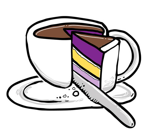coffee cake slice logo