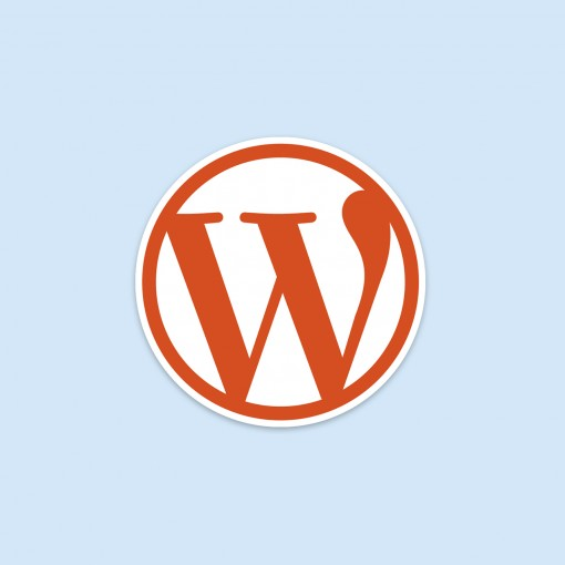 wordpress blogging logo square