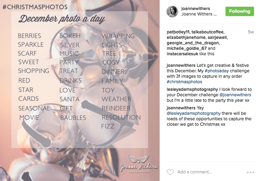 30 day photo challenge - Instagram