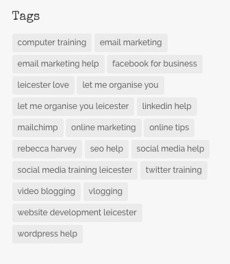 tags in blog posts