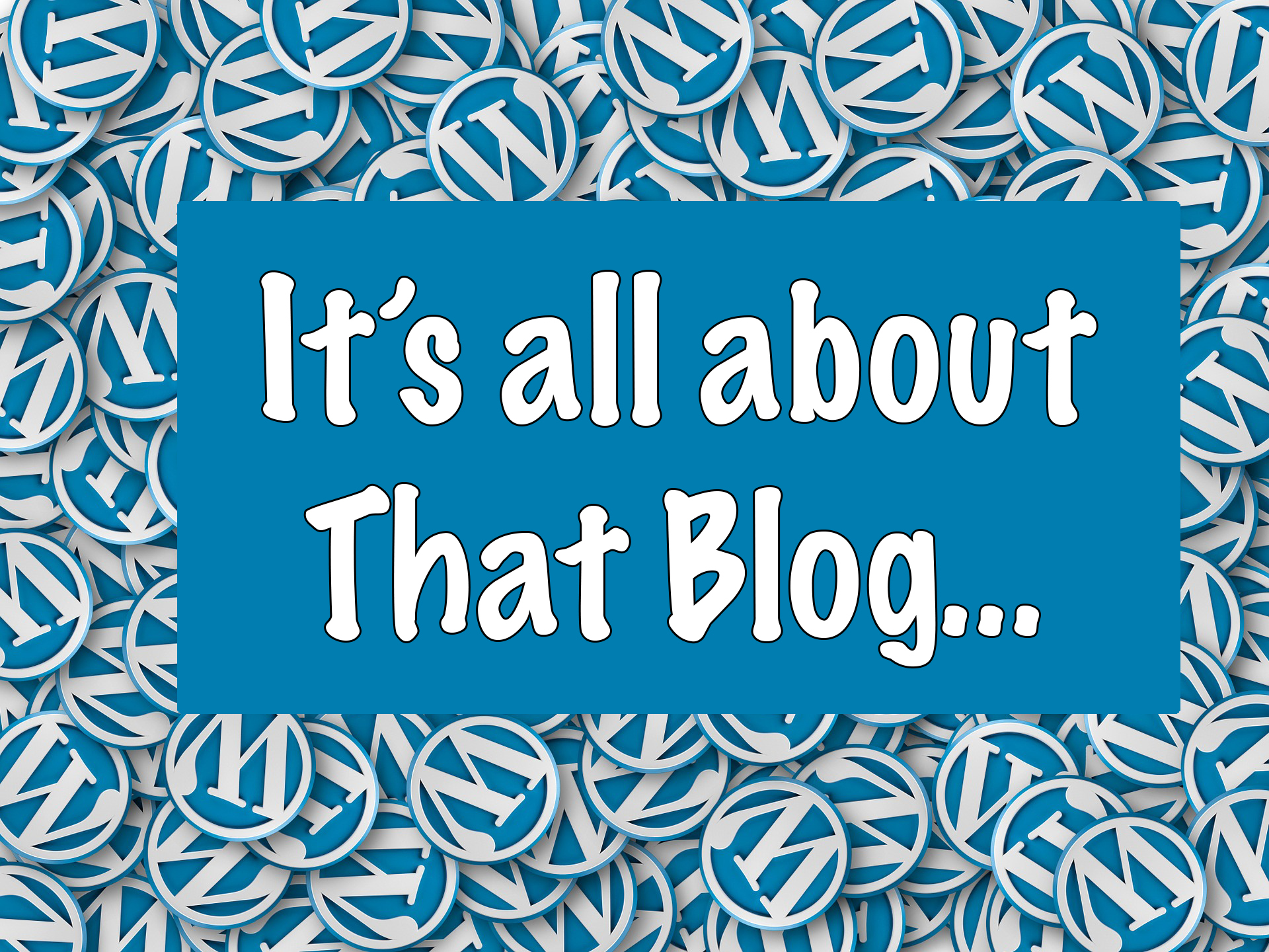 it's all about that blog header