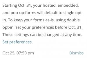 GDPR MailChimp Update LMOU