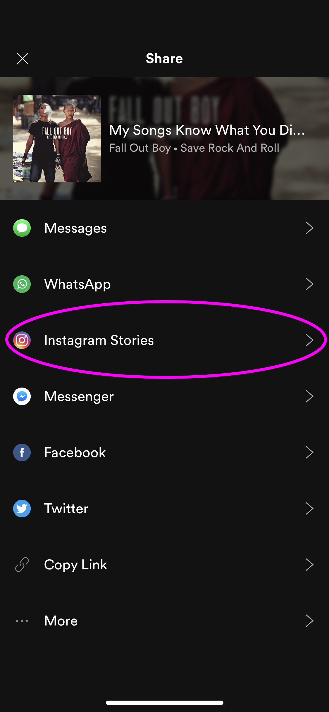 3 Spotify to IG Stories