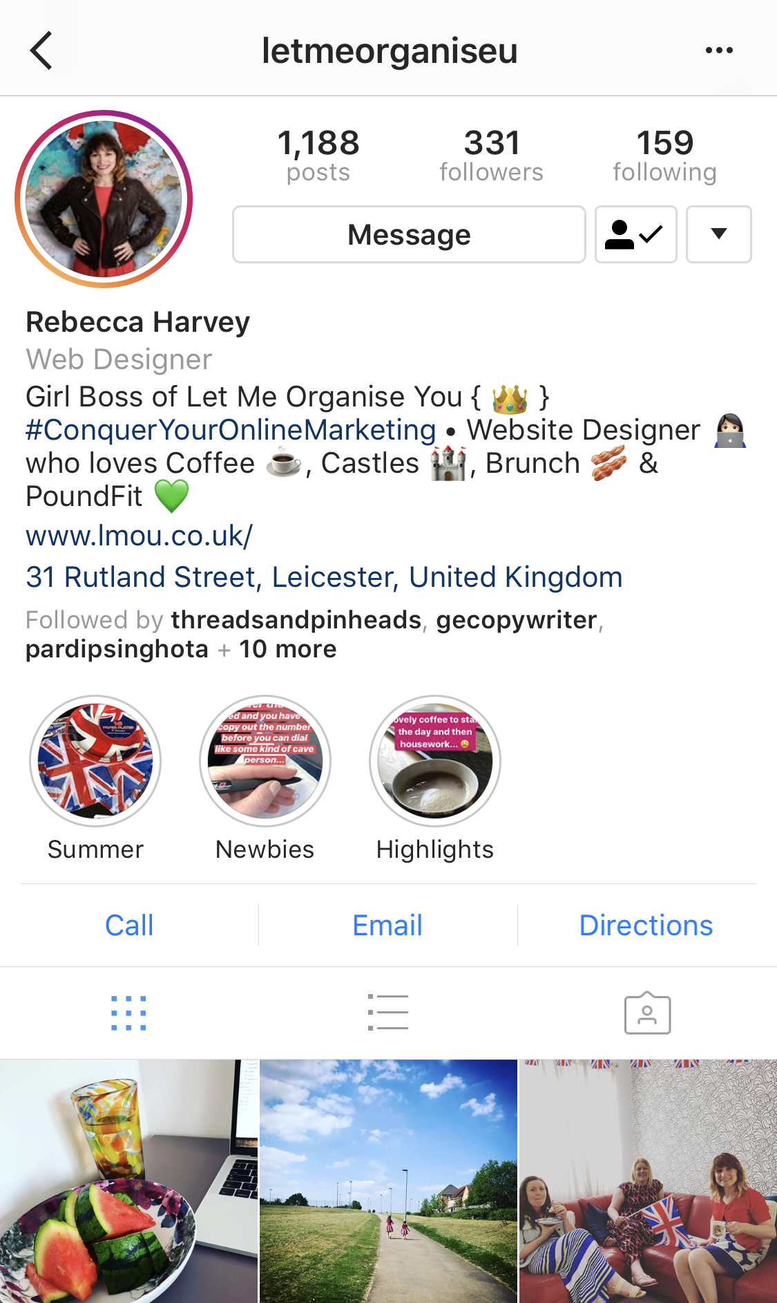 IG Stories Highlights Let Me Organise You