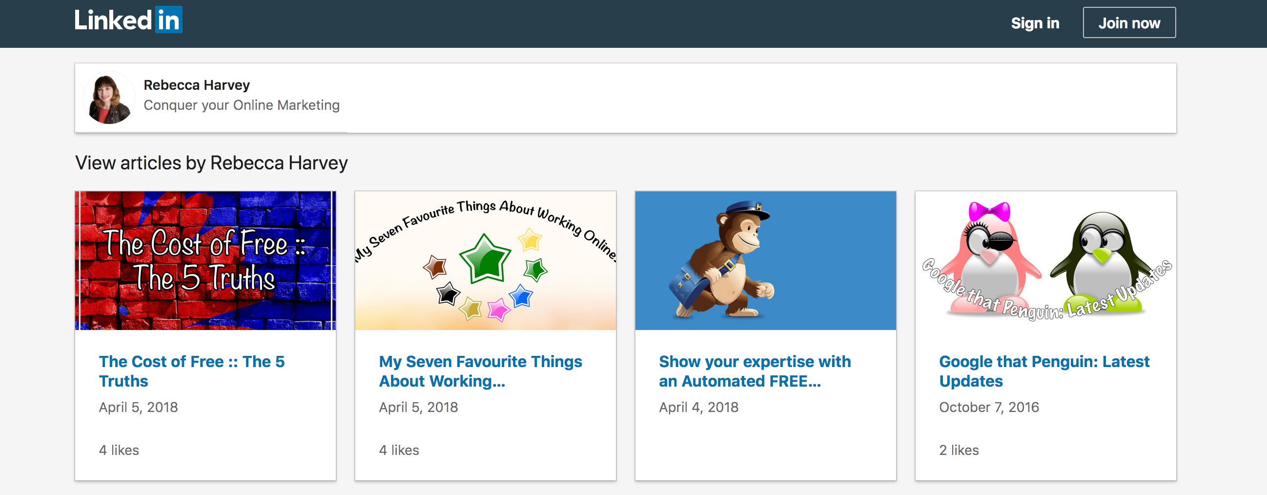 Linkedin Articles On Profile Example