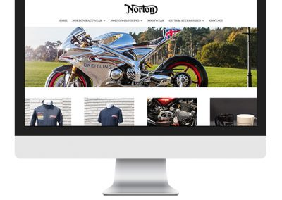 Norton Motorcycles Online Shop / Trade Website